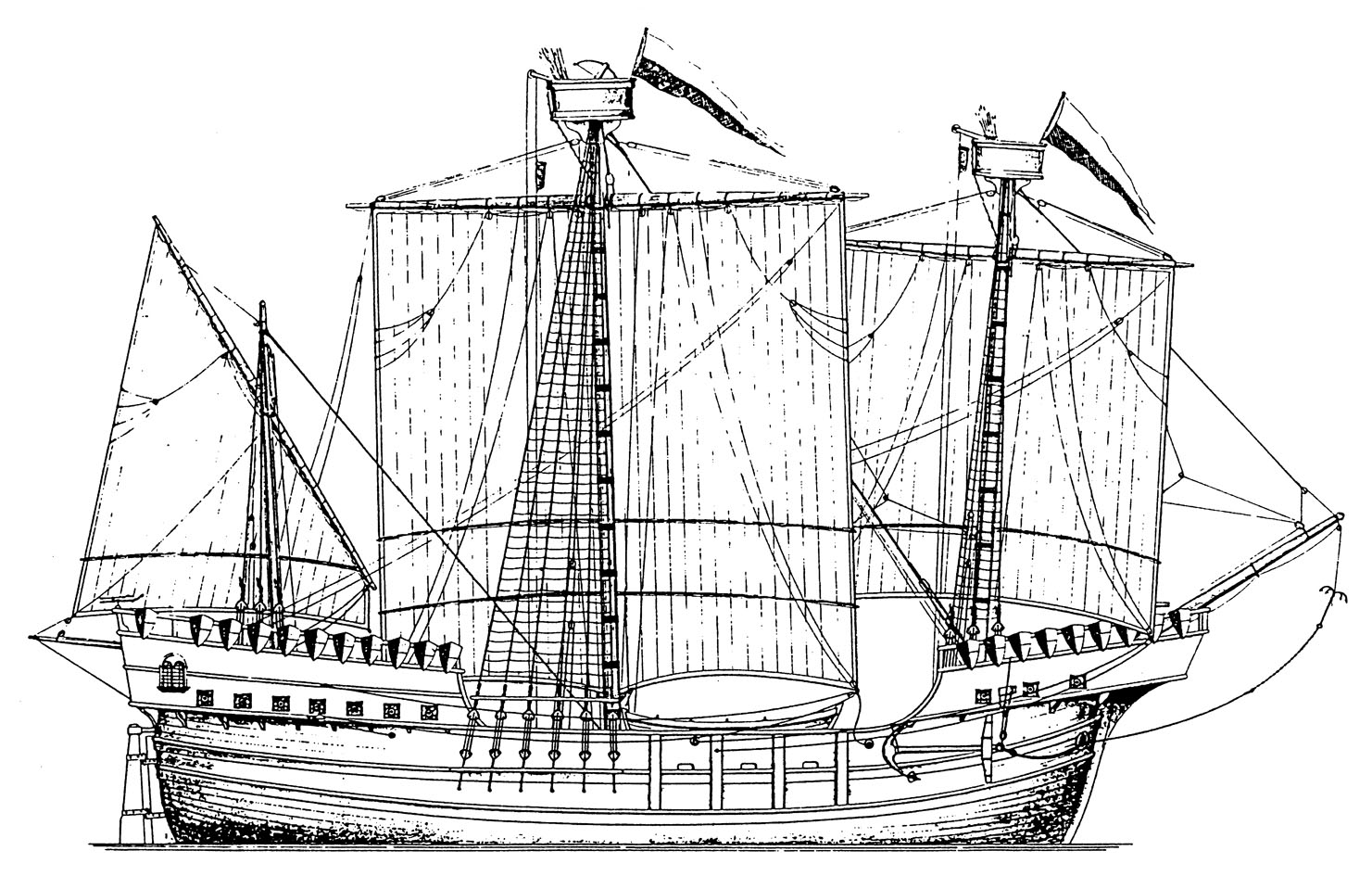 0901 cocca anseatica del xv secolo lungh 28 80 m 1 50 for Costruzione di disegni online
