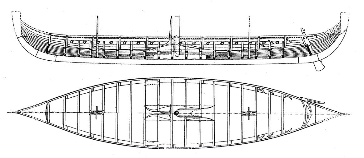 1144 drakkar vichingo l f t 23 90 m 1 30 for Disegno del piano di costruzione